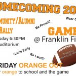 See y'all tonight at NDHS Homecoming pep rally