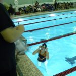 North Dallas High swimmers in learning mode