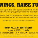 Support North Dallas High, eat some wings!