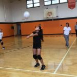 ND volleyball team to play in boys gym Friday