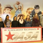 North Dallas senior Helen Garcia receives DASA scholarship award at Mavericks game