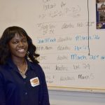 EIF Advisor Rebecca Burns encourages students to apply for scholarships, pursue college degree