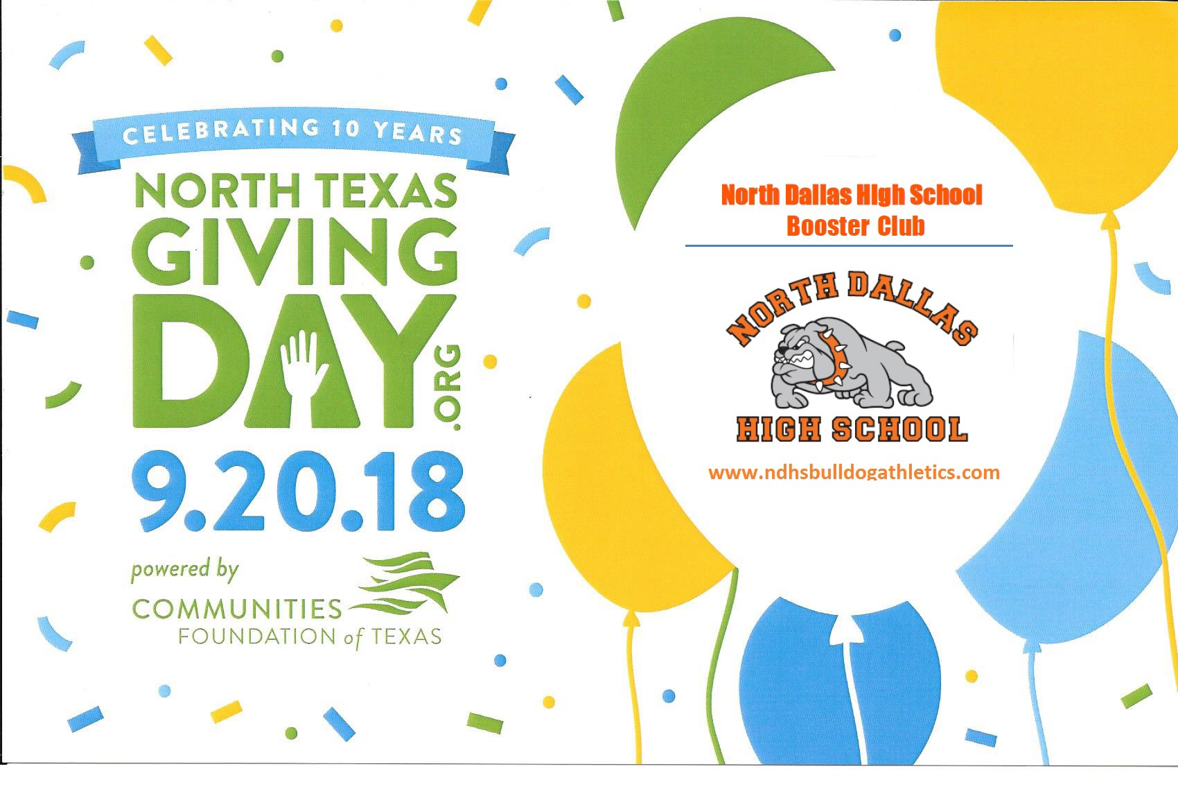 North Dallas Booster Club needs your support — Make a donation today