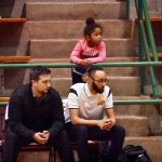 Daddy's daughter lends support at North Dallas boys basketball game