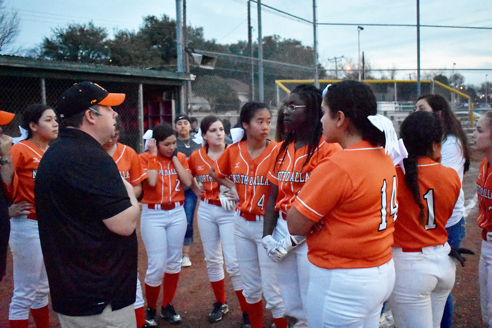 Lady Bulldogs playing seven of next eight softball games on North Dallas field