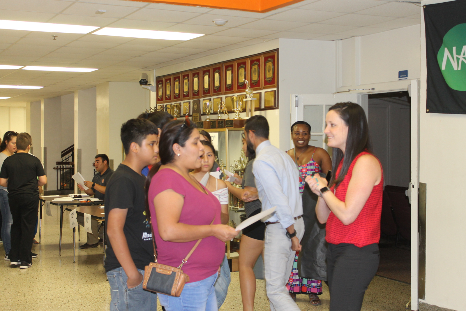 Parents and students attend Meet the Teacher night