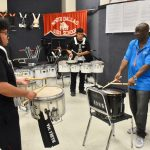 North Dallas drum section gets some help from professional Glenn Robertson