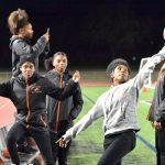 North Dallas student trainer Jada Heard shows off her football skills