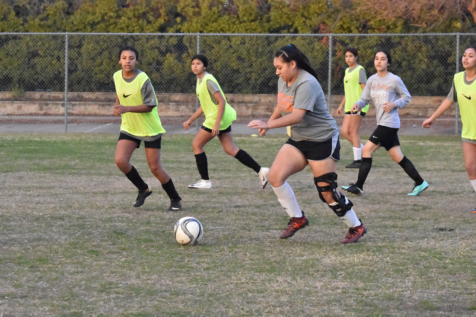 North Dallas Lady Bulldogs hold soccer tryouts last week