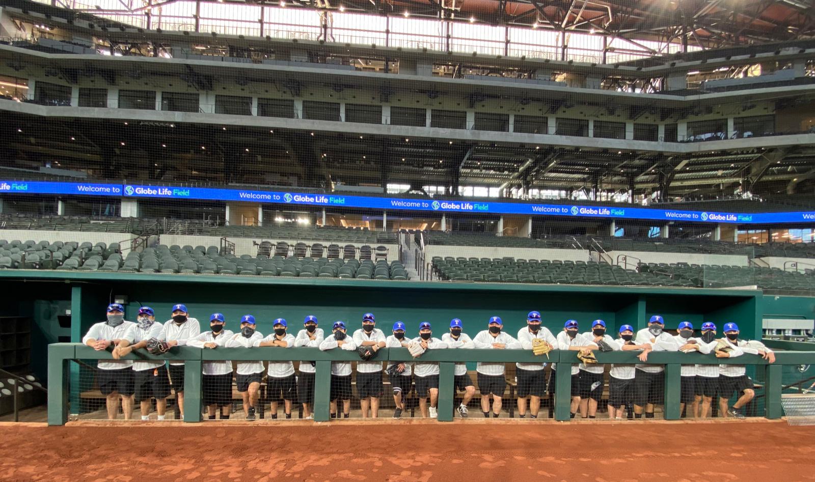 Photo gallery: North Dallas baseball team at Globe Life Park with Frank Miller — Feb. 4, 2021