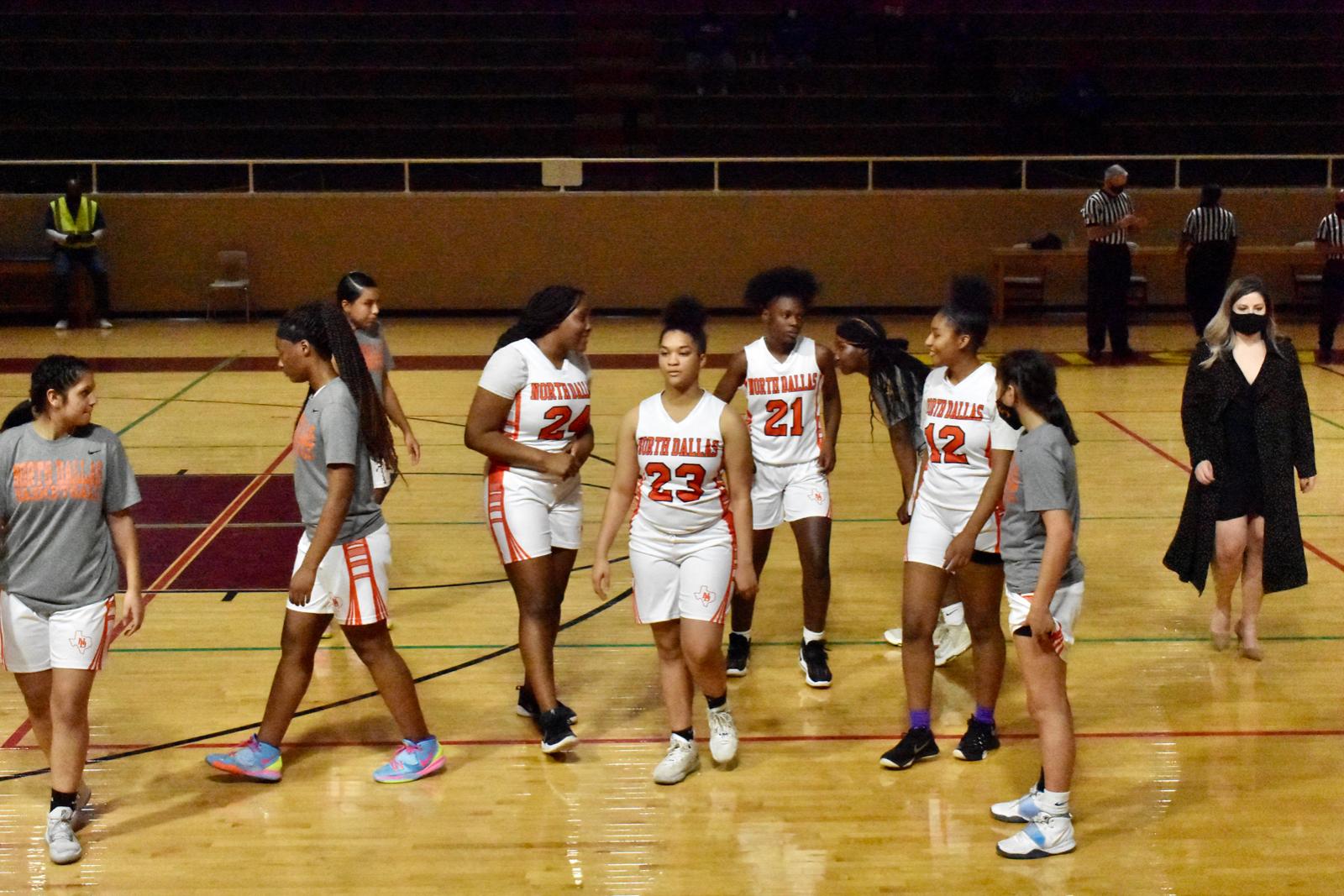 Photo gallery: North Dallas Lady Bulldogs basketball team vs. Wilmer-Hutchins — Feb. 3, 2021