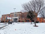 Our North Dallas High is surrounded by snow