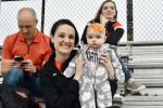 North Dallas' youngest fan watches the Bulldogs win