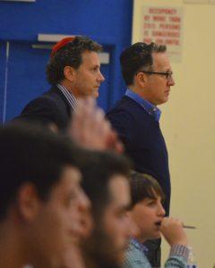 Varsity coaches Joey Hoenig and Steve Kuritzky