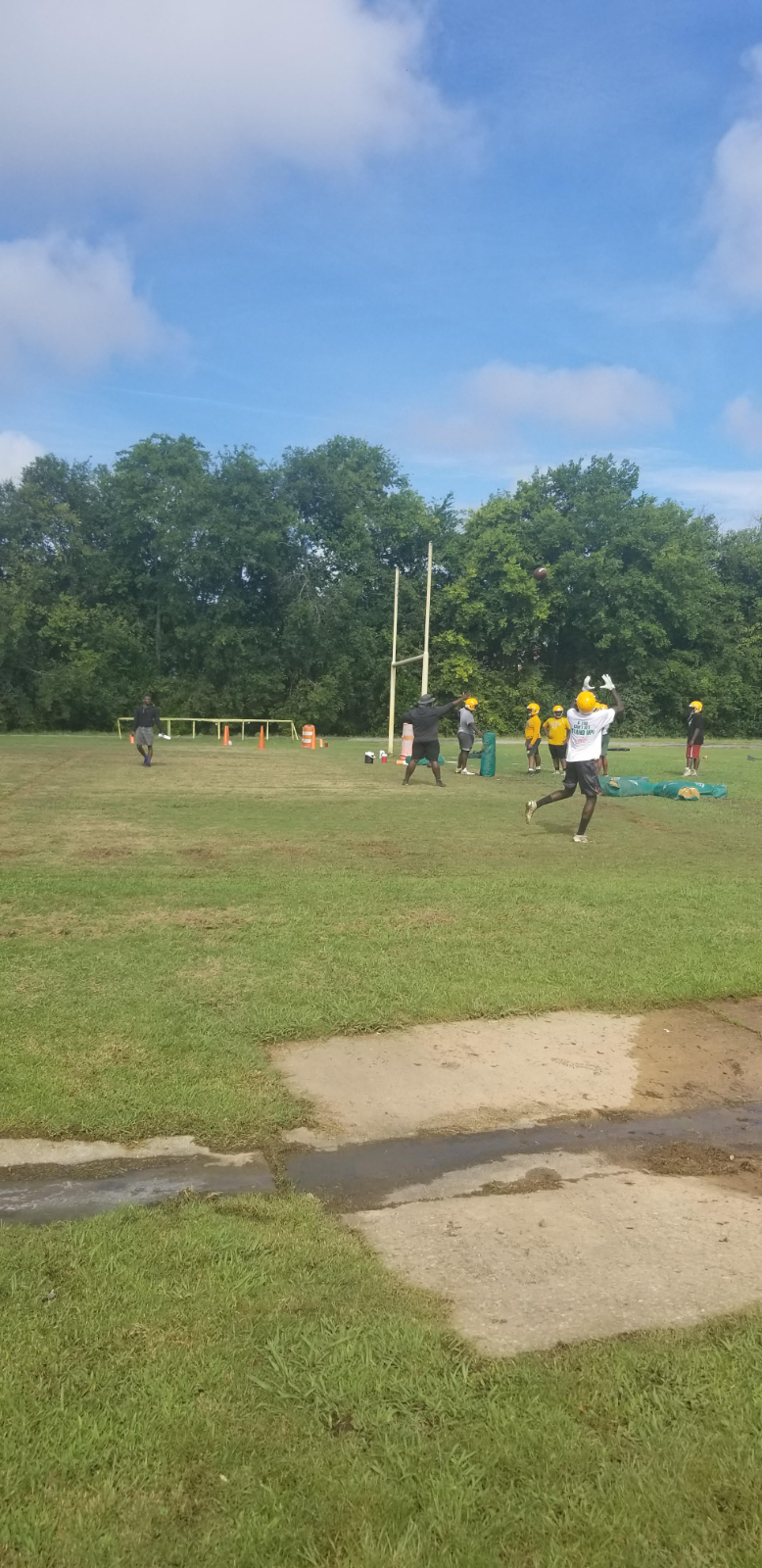 First Day of Football Camp 2020