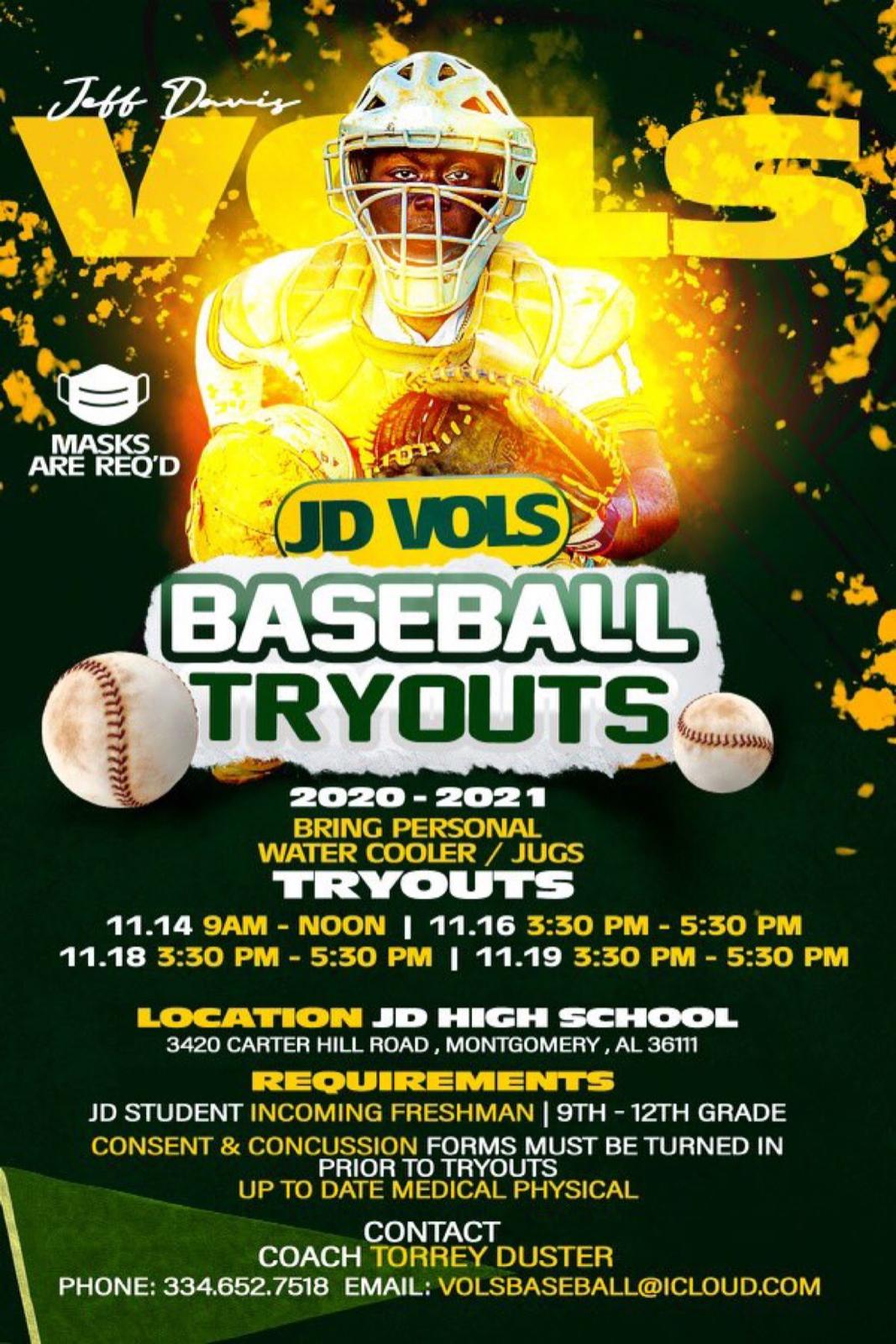 20-21 Baseball Tryouts