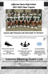 2021-22 Cheer Tryouts Mar. 29-Apr. 2