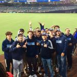 Soccer team at Padres game