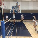 Girls Junior Varsity Volleyball beats OLP in 3