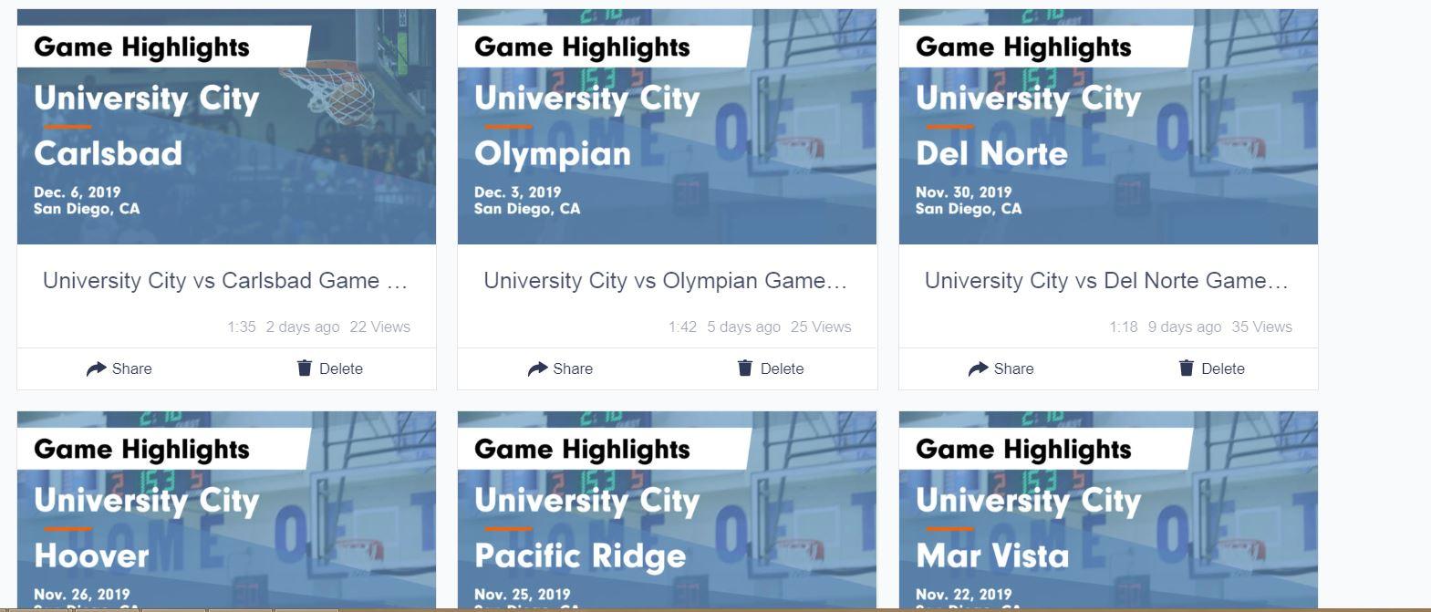 Highlights Girls basketball games