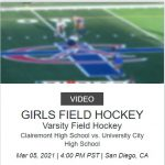 Field Hockey vs Clairemont (NFHS live) subscription needed
