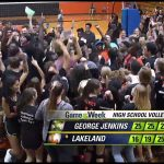 Lakeland High School Girls Varsity Volleyball beat George Jenkins High School 3-2