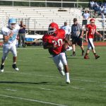 Freshman Football Kicks Off Season With Big Win