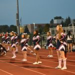 JV Cheer at Plymouth Game