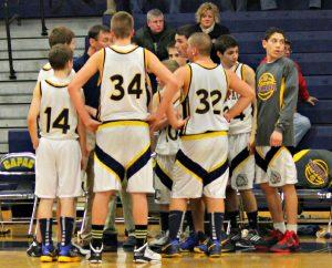 Freshmen Boys Basketball vs Yale 2012