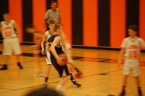 7th Grade boy's basketball Almont 12-13
