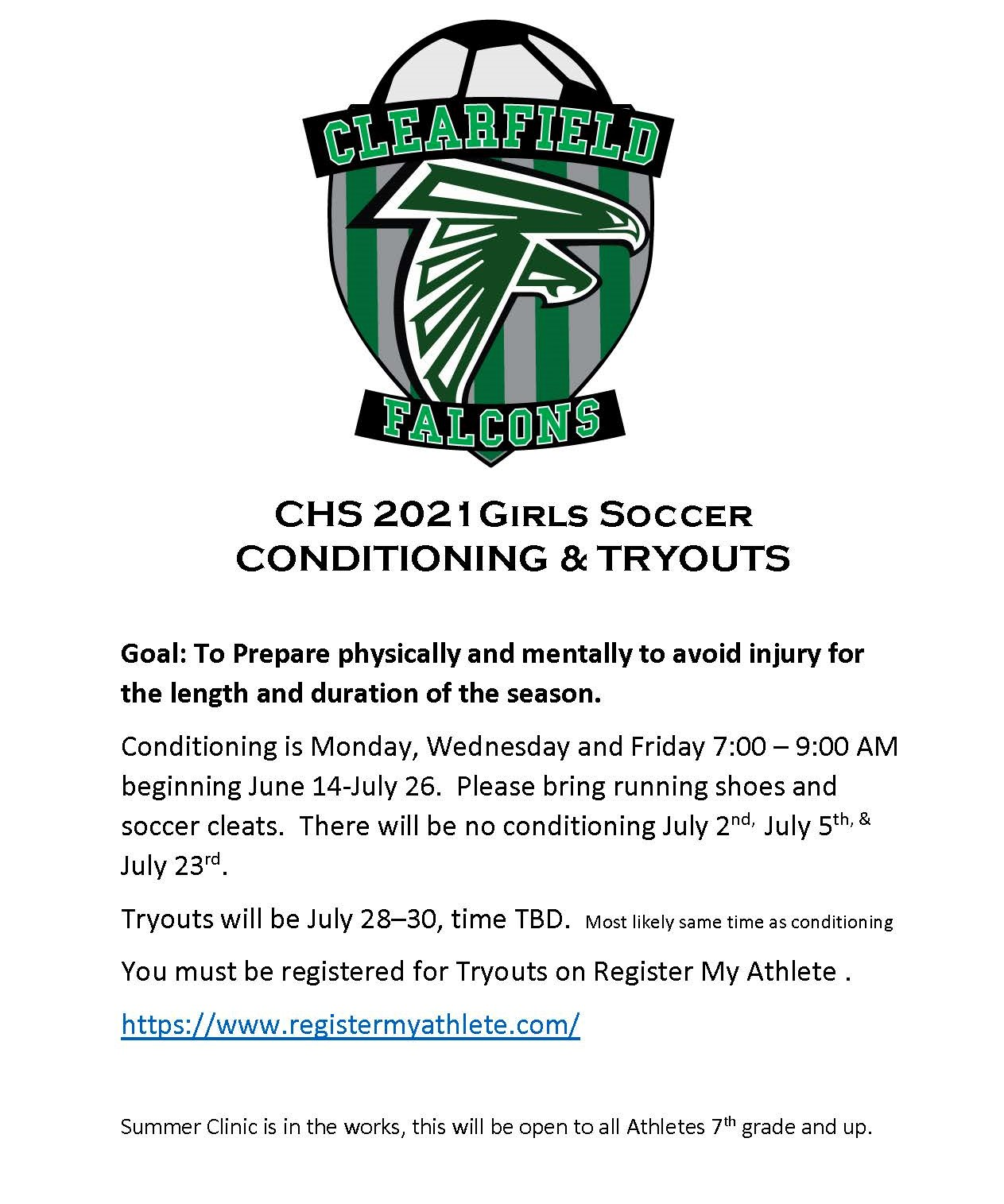 CHS 2021 Girls Soccer Conditioning & Tryouts