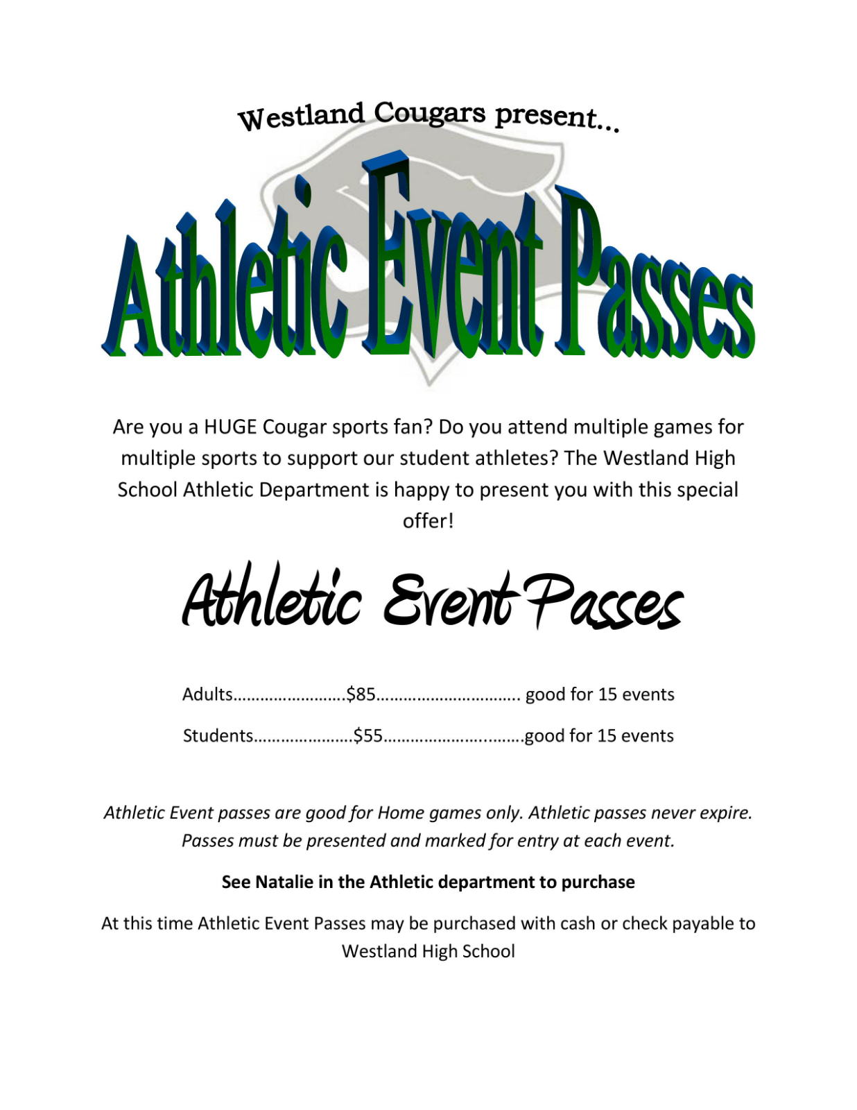 Introducing: Athletic Event Passes