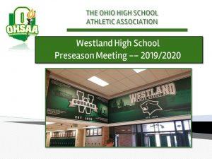 WHS Parent Meeting Presentation