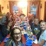 Comp Girls Soccer Bonds Over Spaghetti