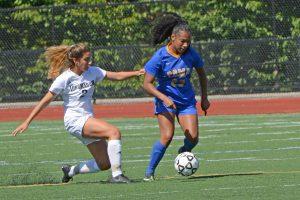 Girls Varsity Soccer Action