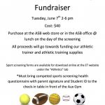 El Toro Sports Screening Fundraiser Tuesday June 7th, 2-6pm