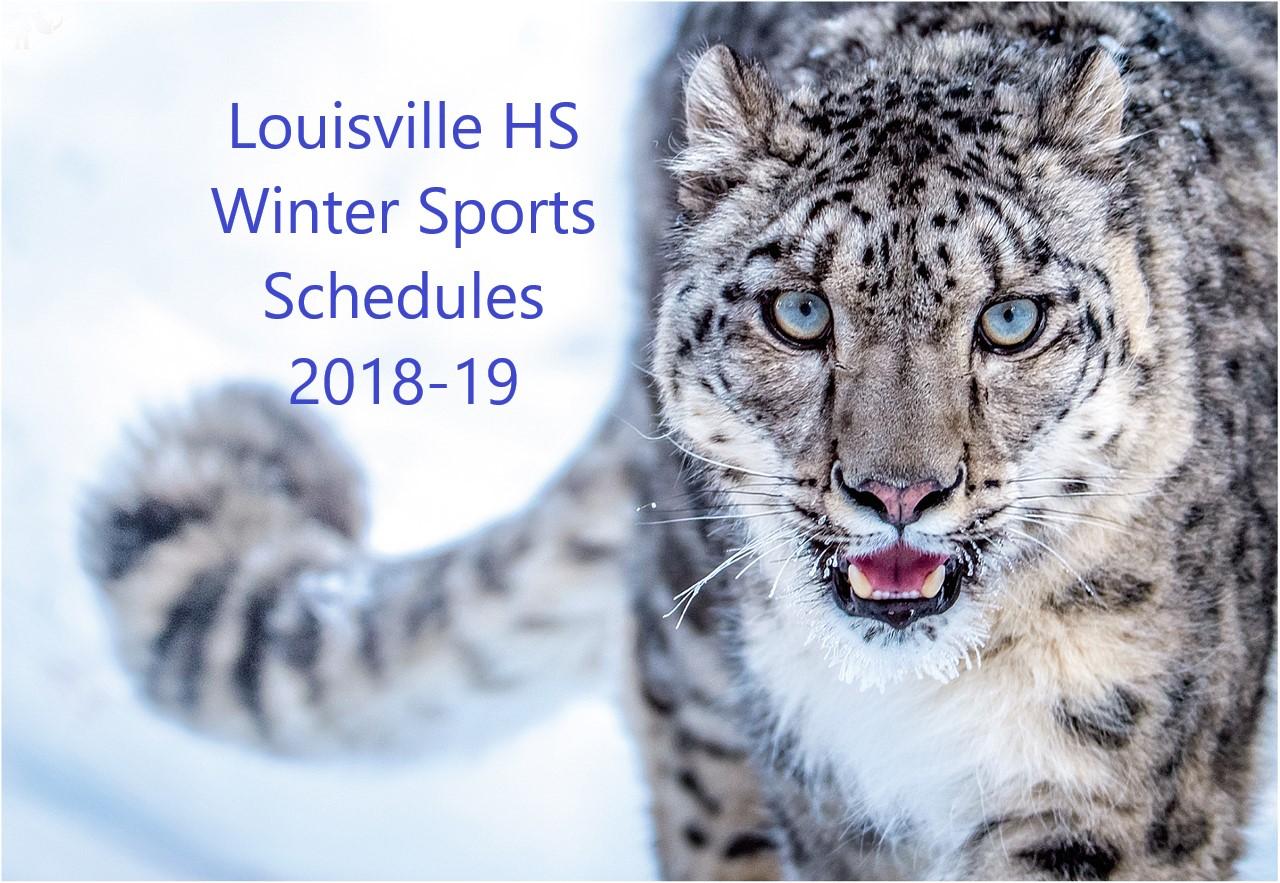 Louisville HS Winter Sports Schedules 2018-19