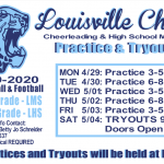 Louisville Cheer Tryout Information for MS and HS