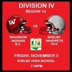 Wauseon @ Shelby – Playoff football information
