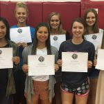 Volleyball team members earn Academic awards