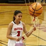 Girls Varsity Basketball beats Evergreen 32 – 28 on Senior Night