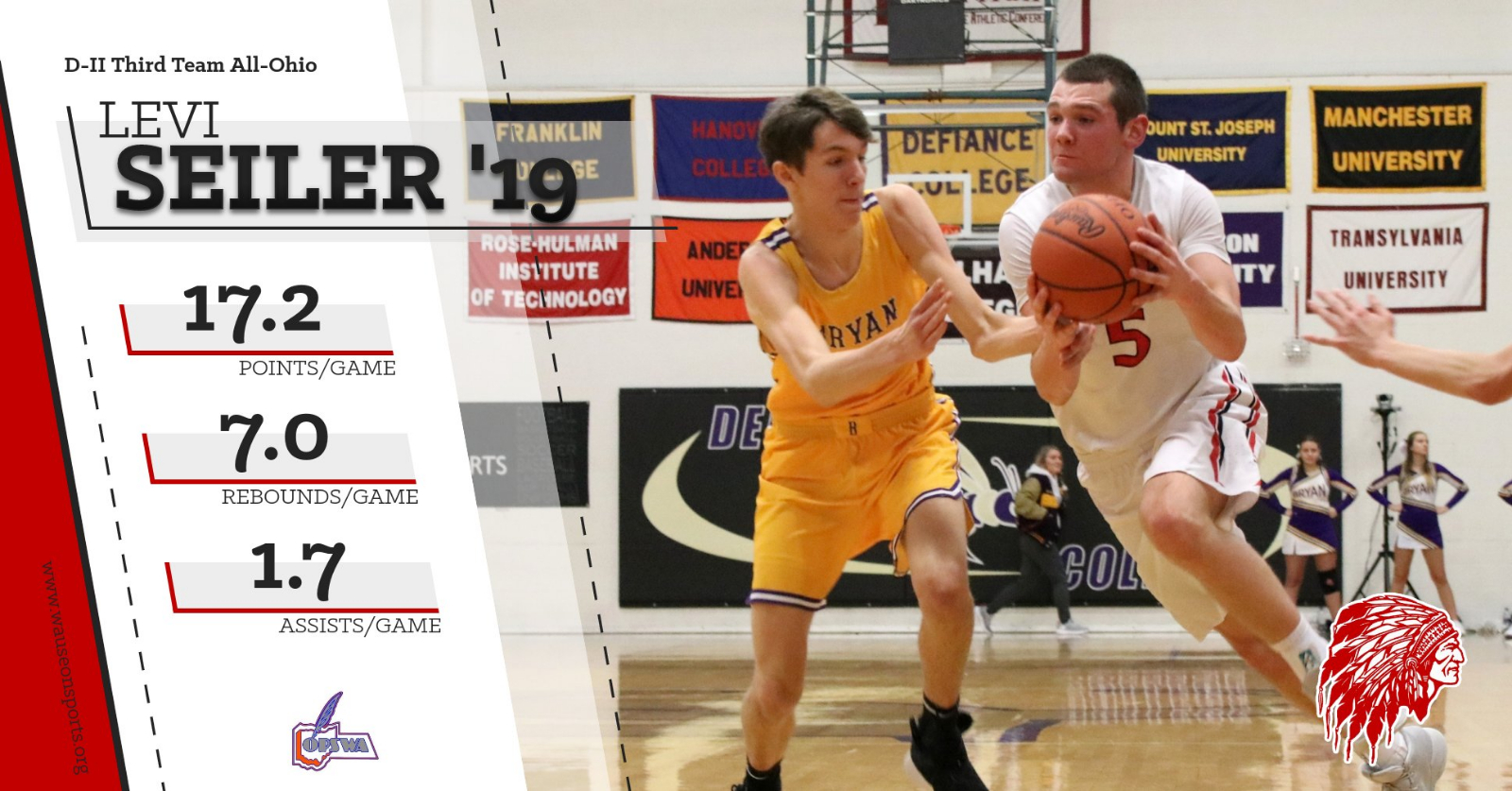 Levi Seiler named Third Team All-Ohio
