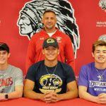 Three wrestlers commit to pursue college athletic careers
