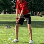 Boys Varsity Golf beats Napoleon 175 – 187