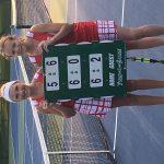 Girls Varsity Tennis beats Start 3 – 2