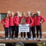 Girls Varsity Cross Country finishes 2nd place at OHSAA Districts @ Ottawa