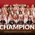 Girls Basketball wins a share of the NWOAL title
