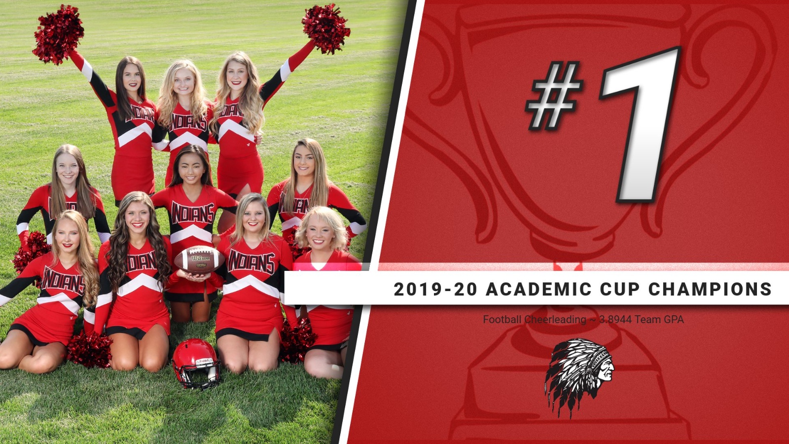 Football Cheerleaders Win the Varsity Academic Cup