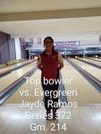 Girls Varsity Bowling beats Evergreen 2188 – 1896