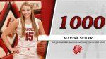 Marisa Seiler scores her 1000th career point